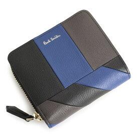 f9ceb05c8d7b ポールスミス 財布 二つ折り財布 ラウンドファスナー 青(ブルー) Paul Smith psc473-