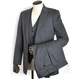 展示品 バーバリーブラックレーベル スーツ 40Rサイズ スリーピース BURBERRY BLACK LABEL 灰(グレー) bmd08308-06 メンズ 紳士