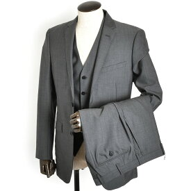 展示品 バーバリーブラックレーベル スーツ 40Rサイズ スリーピース BURBERRY BLACK LABEL 灰(グレー) d1h46308-06 メンズ 紳士