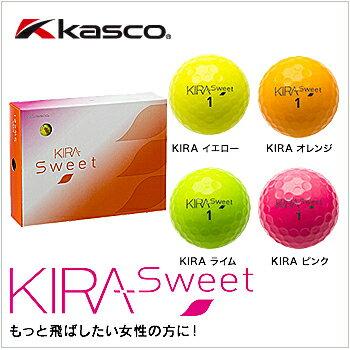 【2014 モデル】キャスコ kasco KIRA SWEETキラ スウィート レディースゴルフボール1ダース(12個入り) カラーゴルフボールあす楽※メール便対応不可商品【ゴルフ】