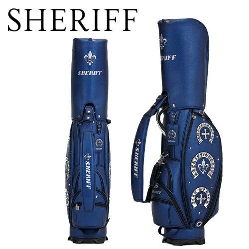 【シェリフ】アクセシリーズ SAC-005キャディバッグ SHERIFF9型 3.5kg 合成皮革あす楽【送料無料】【ゴルフ】