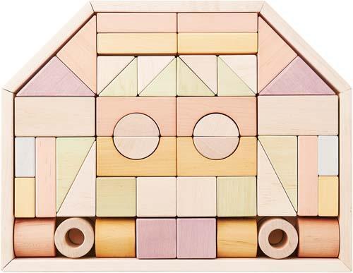 【送料無料!ポイント10倍!】NIHONシリーズ つみきのいえL 【家 国産 積み木 木製玩具 知育玩具 ベビートイ エドインター】