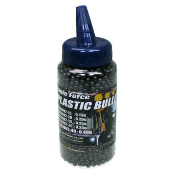 イーグルフォース プラスチック・BBブレット 0.40g V2 2000発 ボトル入(6mmBB弾・グレー)