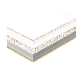ジグソーパズル用 木製豪華フレーム アンティークホワイト (GF031H) 38×26cm