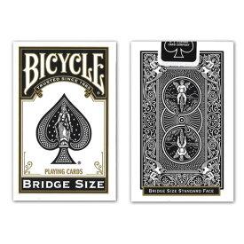 トランプカード バイスクル ライダーバック ブリッジサイズ (黒/ブラック) BICYCLE BRIDGE SIZE BLACK