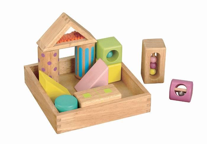 【送料無料!ポイント10倍!】森のあそび道具 音いっぱいつみき 【木製玩具 知育玩具 ベビートイ エドインター】