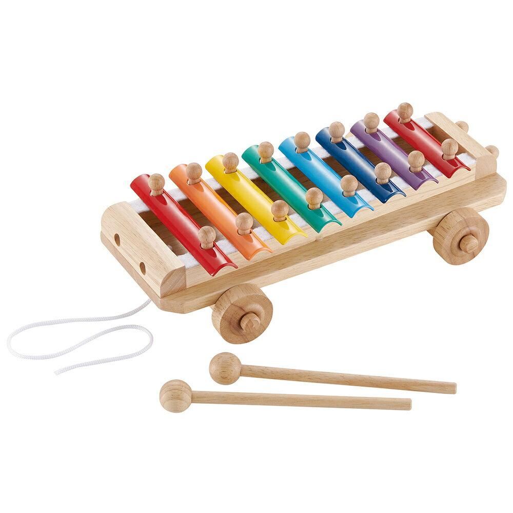 【送料無料!ポイント10倍!】森のあそび道具 シロフォンカー 【木製玩具 知育玩具 ベビートイ 楽器 木琴 エドインター】