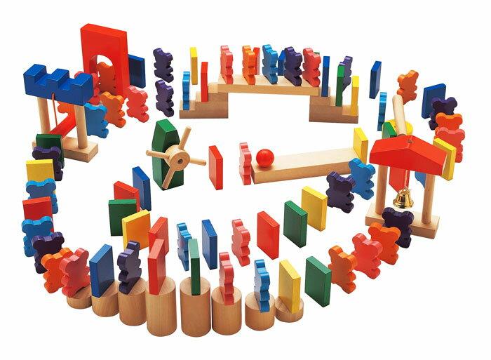 【送料無料!ポイント10倍!】森のあそび道具 ドキドキドミノ 【木製玩具 知育玩具 ベビートイ ドミノ倒し エドインター】