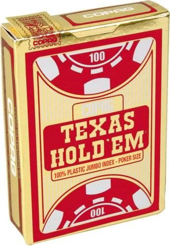 【全品ポイント増量!】 トランプ コパッグ テキサスホールデム (赤) 【本場カジノ仕様 最高級100%プラスチック トランプカード ポーカーサイズ COPAG】 【RCP】