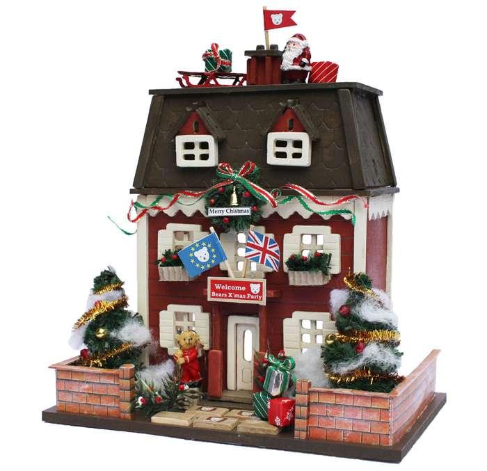 【送料無料!】 ビリーの手作りドールハウスキット ウッディハウスコレクション「 クリスマスハウス 」 【組み立て12分の1工作模型 1/12ミニチュア 手芸】 【RCP】