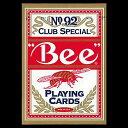 【全品ポイント増量中!】トランプカード ビーカード ポーカーサイズ (赤/レッド) 【Bee 正規代理店仕入品 ラスベガス・カジノで最も使用されているカード U...