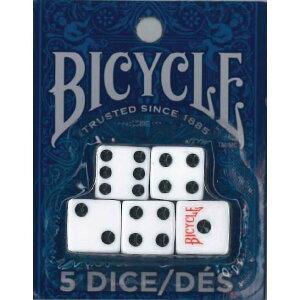 【全品ポイント増量!】 バイスクル ダイス (サイコロ5個入り) 【BICYCLE 正規代理店仕入品 ダイスゲーム等用 バイシクル USプレイングカード社製】