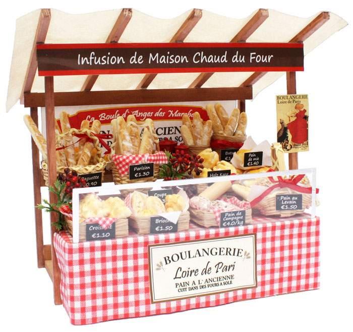 【送料無料!】 ビリーの手作りドールハウスキット パリのマルシェキット「 パリのパン屋さん 」 【組み立て12分の1工作模型 1/12ミニチュア 手作りキット 手芸】 【RCP】