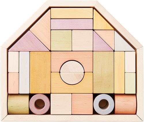 【送料無料!ポイント10倍!】NIHONシリーズ つみきのいえM 【家 国産 積み木 木製玩具 知育玩具 ベビートイ エドインター】