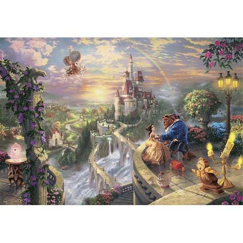 【全品ポイント5倍!】【送料無料!】 ジグソーパズル 1000ピース Beauty and the Beast Falling in Love D-1000-487【Disneyzone】