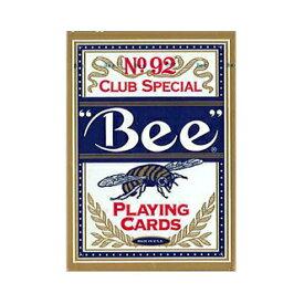【全品ポイント増量!】 トランプカード ビーカード ポーカーサイズ (青/ブルー) 【Bee 正規代理店仕入品 ラスベガス・カジノで最も使用されているカード USプレイングカード社製】