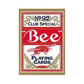 【全品ポイント増量!】 トランプカード ビーカード ポーカーサイズ (赤/レッド) 【Bee 正規代理店仕入品 ラスベガス・カジノで最も使用されているカード USプレイングカード社製】