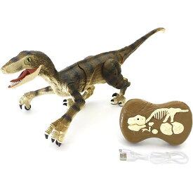 【送料無料!】 恐竜ラジコンロボット RC ダイナソーラン ヴェロキラプトル