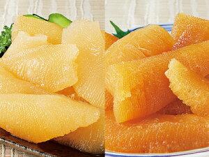 北海道・函館加工 味付け 折れ 数の子 2kgセット 白醤油味1kg+黒醤油味1kg