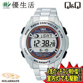 シチズン時計製 ソーラー電源 電波 時計