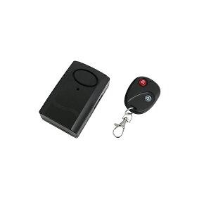 バイク 自動車 リモート式 盗難防止アラーム 振動感知型 120dB ブザー 配線不要 セキュリティー ブラック 防犯 警備 ワイヤレス