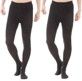 男性 メンズ用 ストッキング【2足セット】 (ブラック, 薄(大きいサイズ))