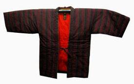 女性用  綿入れ袢天 NO3黒地に細かい棒縞柄送料無料★在庫処分