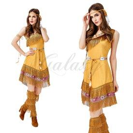 3ecef1d8c5677 ハロウィン 民族衣装 戦士 インディアン アフリカ 先住民 原始人 ワンピース M・XL サイズ コスプレ衣装