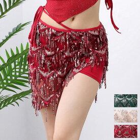 ベリーダンス 社交ダンス 3色 ミニスカート スパンコール レッスン着 練習服 舞台 演出 ダンス衣装(bfm3059a)