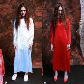 ハロウィン コスプレ 怨霊の女 幽霊 ホラー 肝試し お化け 貞子 2色 仮装 ps2812s(ps2812s) 【あす楽対応】