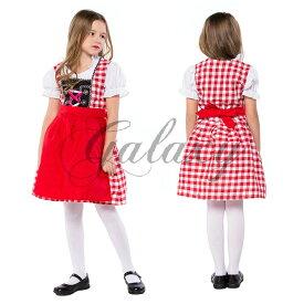 ハロウィン ビールガール 民族衣装 チロリアン ドイツ メイド キッズ用 子供用 イベント コスプレ衣装 ps3306