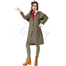 探偵 シャーロック・ホームズ風 イギリス風 親子コーデ カップルコーデ ハロウィン 演出用 コスプレ衣装(ps3825)