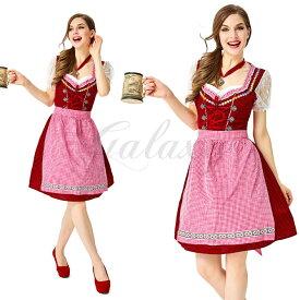 ビールガール ドイツ チロリアン 可愛い メイド服 ワンピース 民族衣装 S-XL ハロウィン 演出用 コスプレ衣装(ps3857)