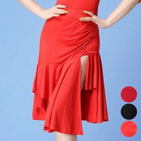 ベリーダンス 社交ダンス ラテンダンス 不規則 スカート 3色 M-XL 練習服 レッスン着 ダンス衣装(hyxl50)