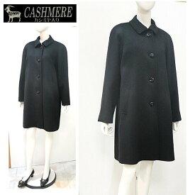 カシミヤ混フォーマルコート礼装用にブラックフォーマル ミセスフォーマル 90cm丈