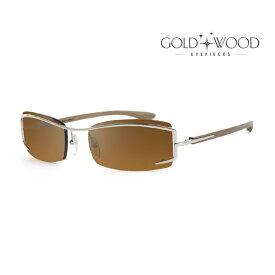 GOLD&WOOD ゴールドアンドウッド サングラス メンズ レディース UVカット 上品オシャレ 大人可愛い GW F02.4 [並行輸入品]
