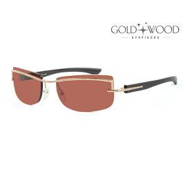 GOLD&WOOD ゴールドアンドウッド サングラス メンズ レディース UVカット 上品オシャレ 大人可愛い GW H02S.3C [並行輸入品]