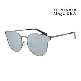 Alexander McQueen アレキサンダー・マックイーン サングラス メンズ レディース UVカット 上品オシャレ 大人可愛い MQ0105SK 001 [並行輸入品]