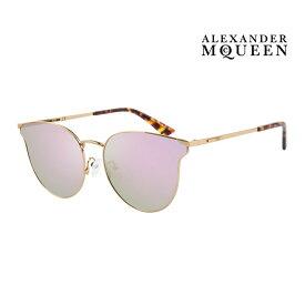 Alexander McQueen アレキサンダー・マックイーン サングラス メンズ レディース UVカット 上品オシャレ 大人可愛い MQ0105SK 004 [並行輸入品]