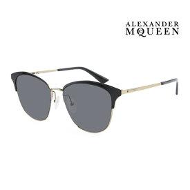 Alexander McQueen アレキサンダー・マックイーン サングラス メンズ レディース UVカット 上品オシャレ 大人可愛い MQ0106SK 001 [並行輸入品]