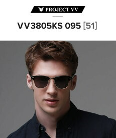 UVカット サングラス PROJECT VV プロジェクトVV アジア人向けにデザイン 男女兼用 つけ心地重視 軽量 スタイリッシュ VV3805KS 095「メーカー希望小売価格21,000円」