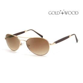 GOLD&WOOD ゴールドアンドウッド サングラス メンズ レディース UVカット 上品オシャレ 大人可愛い GW408S.6 114 [並行輸入品]