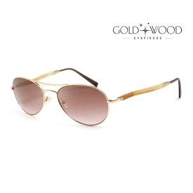 GOLD&WOOD ゴールドアンドウッド サングラス メンズ レディース UVカット 上品オシャレ 大人可愛い GW408S.6 CB6 [並行輸入品]