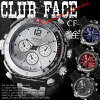 ☆ club face mens metal watches ☆ CF-1060
