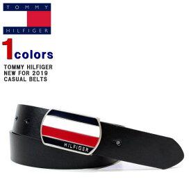 トミー ベルト TOMMY HILFIGER (トミーヒルフィガー) メンズ レザーベルト ロゴ バックル レザー ベルト 革 XZ13 【あす楽対応】