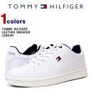 トミー スニーカー TOMMY HILFIGER (トミーヒルフィガー) メンズ レザースニーカー スニーカー 靴 シューズ 革 レザー TM LENDAR LETHER SHOES (WHITE) LENDAR 【あす楽対応】