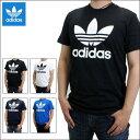 アディダス Tシャツ adidas Originals (アディダス オリジナルス) メンズ 半袖Tシャツ ビッグ ロゴ クルーネック Tシャツ トレフォイル ロゴTシャツ Big Trefoil L