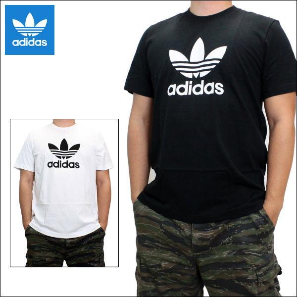 【2点までクリポス送料200円】 アディダス Tシャツ adidas Originals (アディダス オリジナルス) メンズ 半袖Tシャツ ビッグ ロゴ クルーネック Tシャツ トレフォイル ロゴTシャツ Trefoil Tee CW0709 CW0710 全2色 CW07 【あす楽対応】