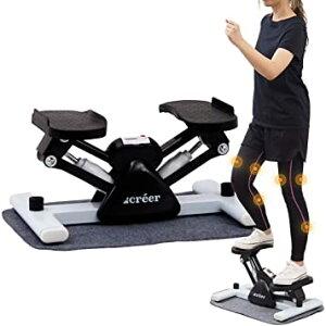 creer ステッパー サイドステッパー 有酸素運動 踏み台昇降 脂肪燃焼 健康器具 運動器具 フィットネスマシン 2021年改良型/creerオリジナル日本語説明書付き 無料マット付き