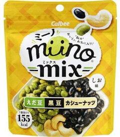 カルビー miinoMIXえだ豆黒豆カシューナッツしお味 27g 12袋